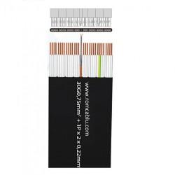 Flat Elevator +P (2x0.22) Cables  H05VVH6-F 300/500 V