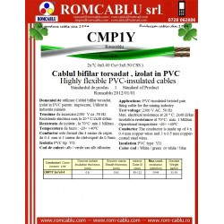 CMP1Y Highly flexible PVC-insulated cables